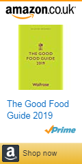 Front cover of the Waitrose Good Food Guide 2019 with Amazon affiliate link