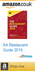Front cover of the AA restaurant guide 2019 with Amazon affiliate link